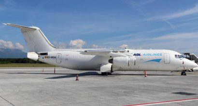 EJS complete the purchase of the second of three BAE146-300QT from ASL Airlines Belgium.