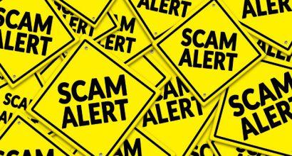 Fraudulent email alert.